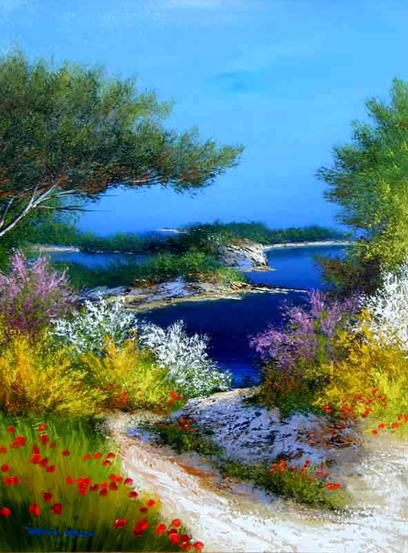La provence paysages cont s par l 39 artiste franck carron l 39 artiste impressionniste du xxi si cle - Paysage peinture facile ...